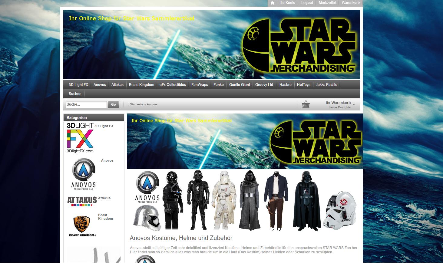 star wars online shop zu verkaufen projektify e v. Black Bedroom Furniture Sets. Home Design Ideas